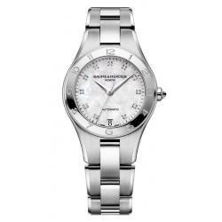 Acheter Montre Femme Baume & Mercier Linea 10074 Diamants Nacre Automatique