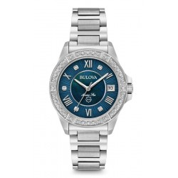 Acheter Montre Femme Bulova Marine Star 96R215 Diamants Nacre Quartz