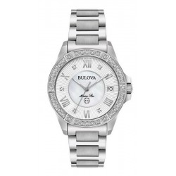 Montre Femme Bulova Marine Star 96R232 Diamants Nacre Quartz