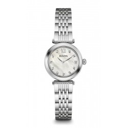 Montre Femme Bulova Diamonds 96S167 Diamants Nacre Quartz