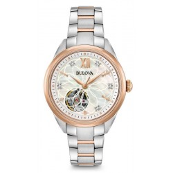 Montre Femme Bulova Classic 98P170 Diamants Nacre Quartz