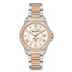 Montre Femme Bulova Marine Star 98R234 Diamants Nacre Quartz