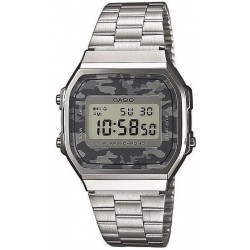 Montre Unisex Casio Collection A168WEC-1EF Camouflage Multifonction Digital