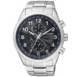 Acheter Montre Homme Citizen Chrono Eco-Drive Radio Pilotèe AT8011-55L