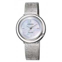 Acheter Montre Citizen Femme Ambiluna Eco-Drive EM0640-82D Diamant Nacre