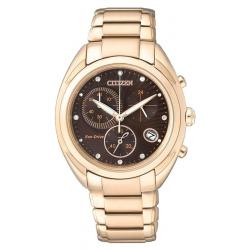 Acheter Montre Citizen Femme Chrono Eco-Drive FB1395-50W Diamants