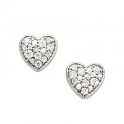 Acheter Boucles d'Oreilles Femme Fossil Sterling Silver JFS00151040 Cœur