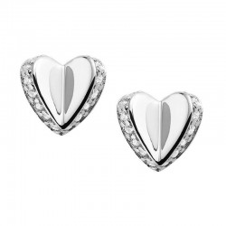 Acheter Boucles d'Oreilles Femme Fossil Sterling Silver JFS00423040 Cœur