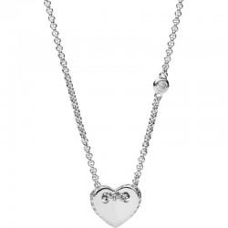 Acheter Collier Femme Fossil Sterling Silver JFS00425040 Cœur