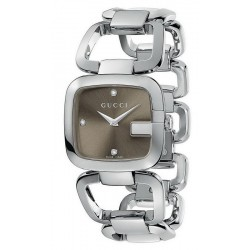 Acheter Montre Femme Gucci G-Gucci Medium YA125401 Diamants Quartz