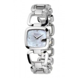 Acheter Montre Femme Gucci G-Gucci Small YA125502 Diamants Nacre Quartz