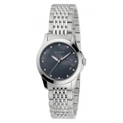 Acheter Montre Femme Gucci G-Timeless Small YA126505 Diamants Nacre Quartz