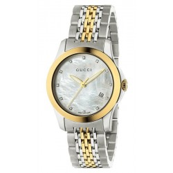 Acheter Montre Femme Gucci G-Timeless Small YA126513 Diamants Nacre