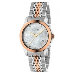 Acheter Montre Femme Gucci G-Timeless Small YA126514 Diamants Nacre