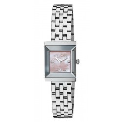 Acheter Montre Femme Gucci G-Frame Square Medium YA128401 Diamants Nacre