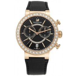 Acheter Montre Swarovski Femme Citra Sphere Chrono Black Rose Gold Tone 5055209