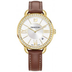 Acheter Montre Swarovski Femme Aila Day Brown Yellow Gold Tone 5095940