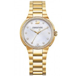 Acheter Montre Swarovski Femme City Mini Yellow Gold Tone 5221172 Nacre