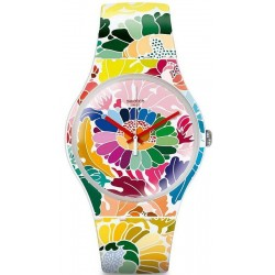 Montre Femme Swatch New Gent Flowerfool SUOW126