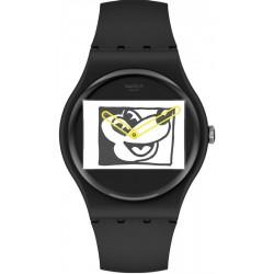 Acheter Montre Mickey Mouse Swatch Mickey Blanc Sur Noir SUOZ337