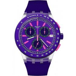 Acheter Montre Unisex Swatch Chrono Plastic Purp-Lol SUSK400 Chronographe