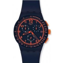 Montre Unisex Swatch Chrono Plastic Rebirth Blue SUSN401 Chronographe