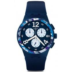 Acheter Montre Homme Swatch Chrono Plastic Camoblu SUSN414 Chronographe