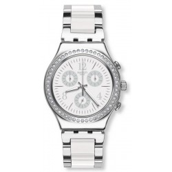Montre Unisex Swatch Irony Chrono Made In White YCS119G Chronographe