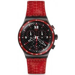 Montre Homme Swatch Irony Chrono Rosso Fuoco YVM401 Chronographe