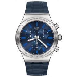 Montre Homme Swatch Irony Chrono Electric Blue YVS478 Chronographe