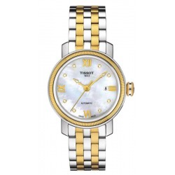 Acheter Montre Tissot Femme Bridgeport Automatic T0970072211600 Diamants Nacre